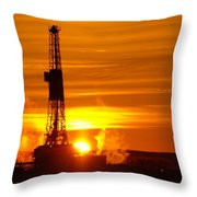 Frontier Nineteen Xto Energy Culbertson Montana Throw Pillow