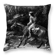 Frontiersman, 19th Century Throw Pillow