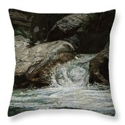 Arizona Frontiersman Rocks Throw Pillow