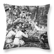 Frontiersmen, 1862 Throw Pillow