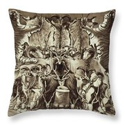 Frontispiece Of Large Game Shooting Throw Pillow
