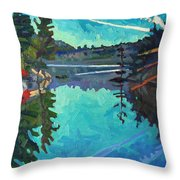 Frood Lake Outlet Throw Pillow