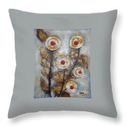 Frosen Roses Throw Pillow