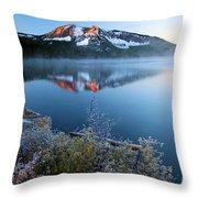 Frost At Paulina Lake Throw Pillow