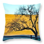 Frost Below The Tree Throw Pillow