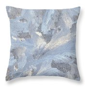 Frost Crystal On Window Throw Pillow