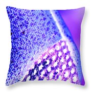 Frost Crystals Abstract Throw Pillow