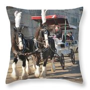 Frost Fair Horses Hastings Throw Pillow