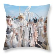 Frost Fair Parade At St Leonards Throw Pillow