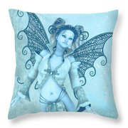 Frost Fairy Throw Pillow