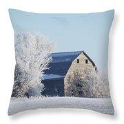Frost Farm Throw Pillow