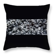 Frost Flakes On Ice - 07 Throw Pillow