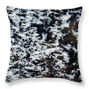 Frost Flakes On Ice - 11 Throw Pillow