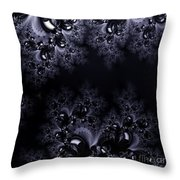 Frost In The Moonlight Fractal Throw Pillow