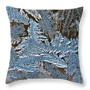 Frost Macro Throw Pillow