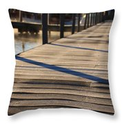 Frost On The Docks Throw Pillow