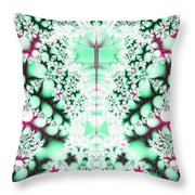 Frost On The Grass Fractal Throw Pillow