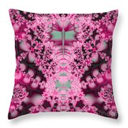 Frost On The Roses Fractal Throw Pillow