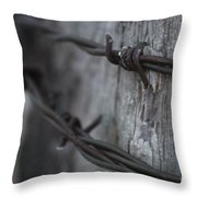 Frost On The Wire Throw Pillow