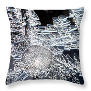 Frost Star Throw Pillow