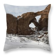 Frosted Double Arch Throw Pillow