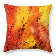Frosted Fire IIi Throw Pillow