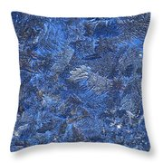 Frosted Frozen Flakes Throw Pillow