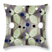 Frosted Green Flower Throw Pillow