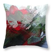 Frosted Hibiscus 2 Throw Pillow