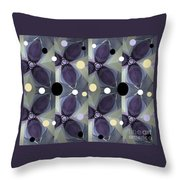 Frosted Purple Flower Throw Pillow