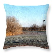 Frosted Wheat Throw Pillow