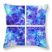 Frosted Window Abstract Collage Throw Pillow