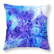 Frosted Window Abstract I   Throw Pillow