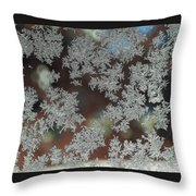 Frosted Window Throw Pillow