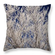 Frosted Wires Throw Pillow