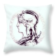 Frosty 1896 French Indochina Throw Pillow