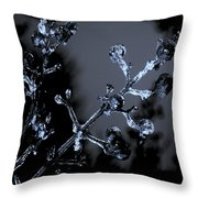 Frosty Buds Throw Pillow