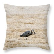 Frosty Dinner Throw Pillow by Mike  Dawson