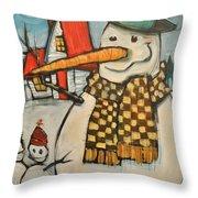 Frosty Family Throw Pillow