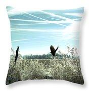 Frosty Flight Throw Pillow