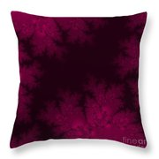 Frosty Fuchsia Fantasy Fractal Throw Pillow