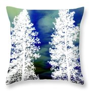 Frosty Giants Throw Pillow