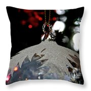 Frosty Glass Throw Pillow