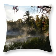Frosty Glow Throw Pillow