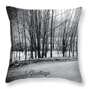 Frosty Morning At Dalmally  Throw Pillow