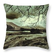 Frosty Morning At Glen'orchey   Throw Pillow