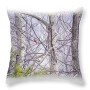 Frosty Morning Song Throw Pillow
