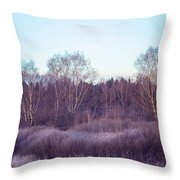 Frosty Purple Morning In Russia Throw Pillow