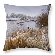 Frosty River Tyne Throw Pillow
