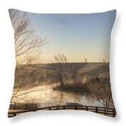 Frosty Sunrise Throw Pillow